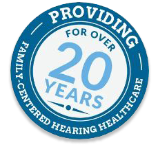 A blue ribbon showcasing 20 years of patient-centered care