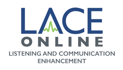 LACE Online logo: listening and communication enhancement